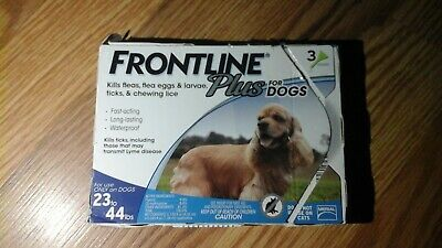 3 pack- FRONTLINE Plus for Medium Dogs 23-44 lb Flea and Tick Treatment READ