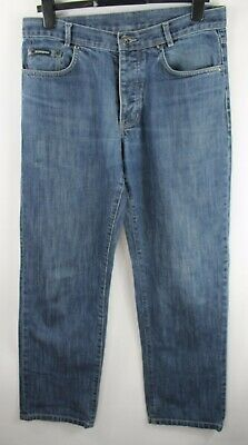 "YSL Jeans 32W 32L Button Fly Denim Blue Cotton Yves Saint Laurent 32"" Waist"