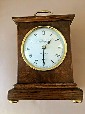 Wooden Cased Knight & Gibbins Battery Operated Clock - Immaculate