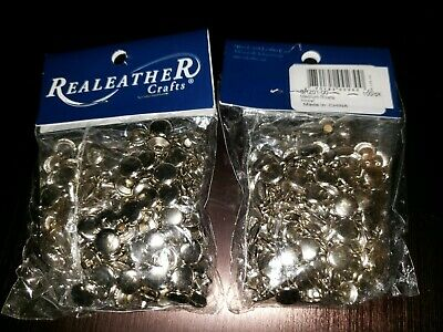 2 Pack Silver Creek Leather Co Medium Rivets Nickel Color