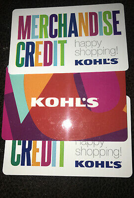 Kohl's  Merchandise Credit/ Gift Card