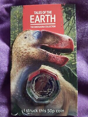 1st ever Strike Your Own Dinosaur Megalosaurus 2020 50p 1st of 3 coins