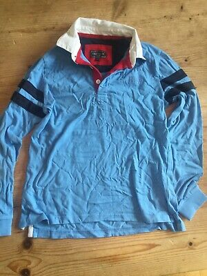 Boys Howick Light Blue Rugby Shirt Age 9-10