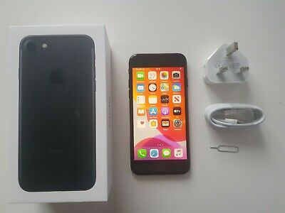 Apple iPhone 7 - 128GB - Jet Black (Unlocked) Fully Working  with accessories