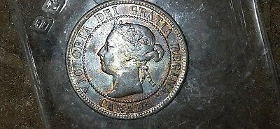 1901 Canadian Large Penny Coin Rare Beauty Toned