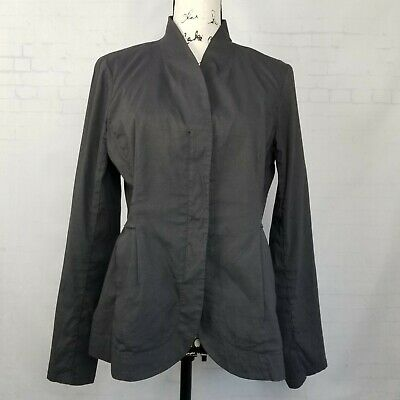 Peplum Waist Tailored Minimalist Business Office Zipper 255 mv Jacket 1XL 2XL