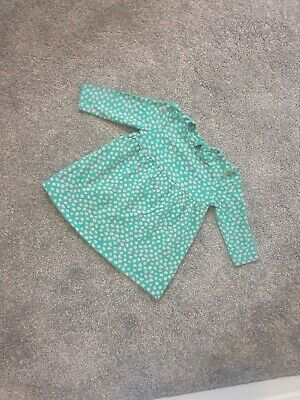 Stunning Baby Girl Green Dress 6-9 Hearts Mothercare Long Sleeve casual love A