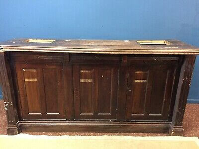 Large Old Shop Counter/ Bar/ Kitchen Island In Solid Wood
