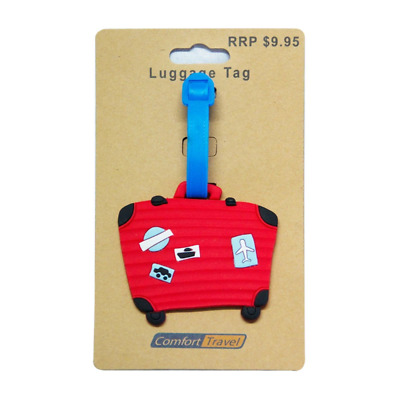 Comfort Travel - Red Suitcase Bag Tag