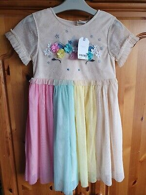 BNWT Girls Age 6-7 Years NEXT Unicorn Tulle Party Dress