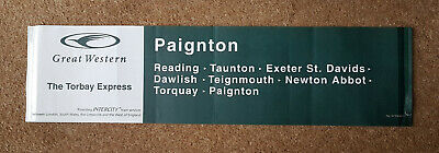 1 x Great Western Carriage Destination Label - THE TORBAY EXPRESS