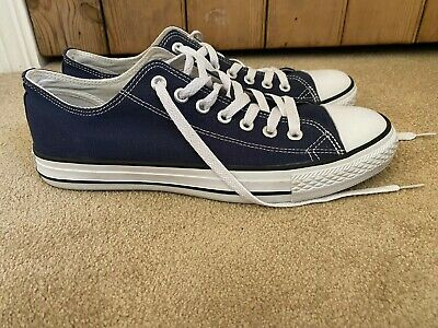 Men's Converse All Star Ox Trainers Pumps  Navy Blue - Size Uk 10 - Worn Once