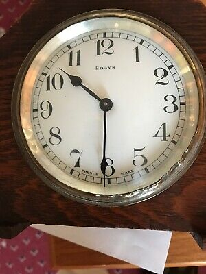 bayard clock 8 Day Lever Movement 2 Jewel Made In France Spares Or Repair