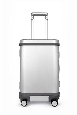 "Samsara Smart Aluminum Luggage 22"" Carry-On with USB and App - Silver"