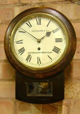 Antique (Repro) Wall Clock -Drop dial Fusee,