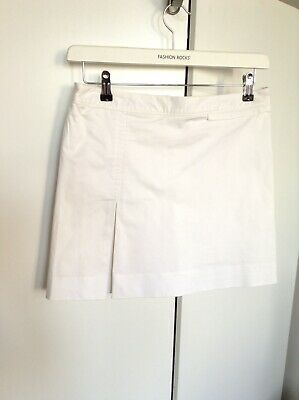 Ladies Ralph Lauren Golf Skort Rl-Size 8 White Skirt With Integral Shorts