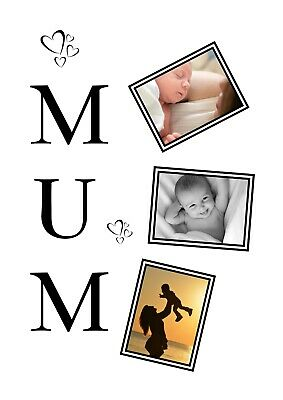 Personalised Mum Photo Collage Print Ideal For Mother's Day Birthday Occasion