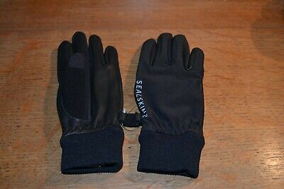 Sealskinz 100% Waterproof Breathable leather gloves age 6 to 9 child unisex blue