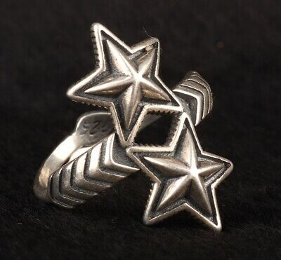 Precious Chinese 925 Silver Solid Silver Real Silver Ring Star Handmade