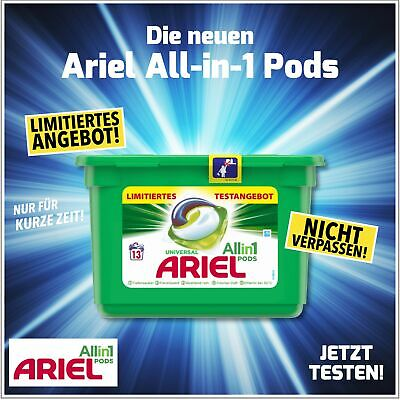 3x ARIEL All in1 Pods 30g Regulär Waschmittel - 13WL