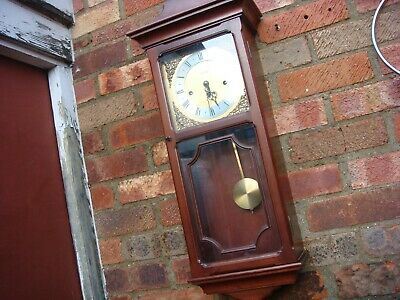 FHS  Movement Westminster  Chimes  METAMEC Dial Wall Clock  See Video