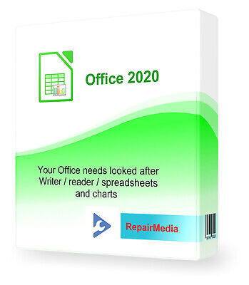 Word Processor Office Pro 2020 Text Editor Publisher PowerPoint Charts PC DVD