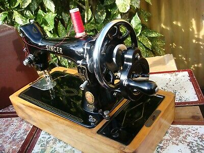 Antique Old Vintage Hand Crank  Singer sewing machine Model  99K See Video