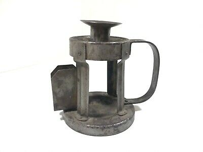 Rare Antique Goberg Wrought Iron Candle Holder Arts And Crafts Hugo Berger