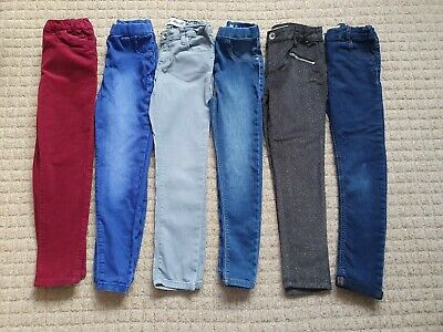Girls Age / Size 6-7 Years Trousers, Jeggings, Jeans and Cords Bundle 6 pairs