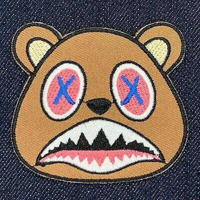 Kanye West Bear Logo Rap Music Iron On Embroidered Patch