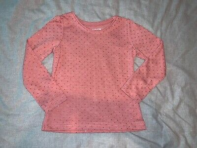 Girls Clothes pink top glitter spotty detail age 3-4 years