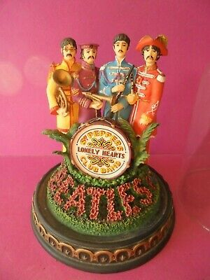The Beatles Sgt. Pepper's Franklin Mint Figure Glass Dome 1993 Limited Edition