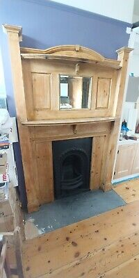 Beautiful Arts And Crafts reclaimed Pine Fire Surround