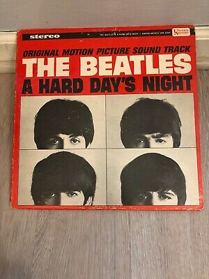 THE BEATLES - A Hard Day's Night - 1964 US Stereo United Artists Records VG Cond