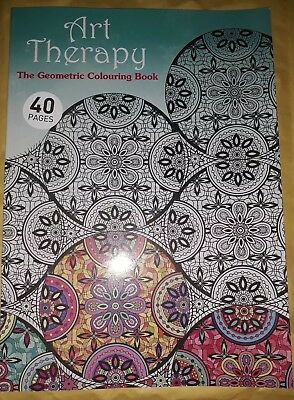 Art Therapy Adult Colouring Book Creative Geometric Patterns Anti Stress 40 Page