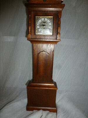 Vintage style Wooden Grandfather Clock minature 15 in Elgin Alarm Spares Repairs