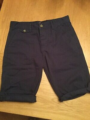 Kangol Navy Boys Denim Smart Shorts Age 13 BNWOT