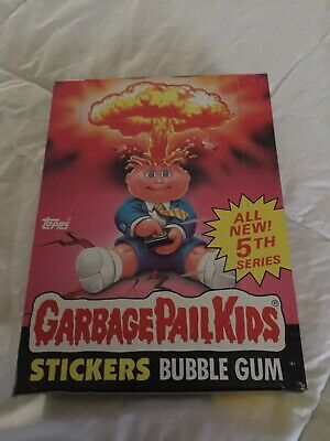 1986 Topps Garbage Pail Kids Cards 5th Edition Unopened Wax 48 Packs Trading
