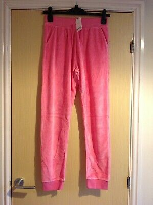 Pair of girls pink loungewear bottoms age 15 years from next
