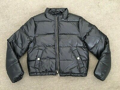 Girls Navy Wet Look Quilted  Bomber Jacket  Age 8-9 Yrs   Marks & Spencer  Bnwot
