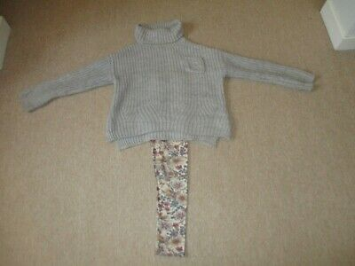 Sunning Zara Girls Outfit Jumper and Leggings Age 9/10 Years