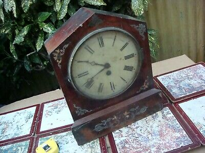 Antique Vintage Time Piece  Mantle  Clock  For restoration Spare or Repair