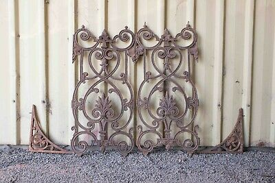 Antique iron lace panels and corner pieces