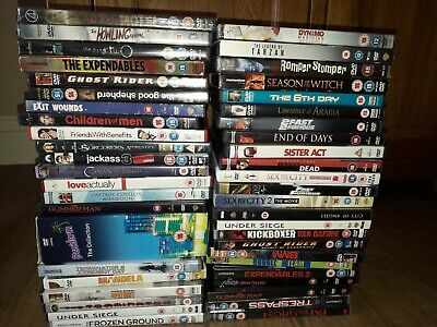 x46 Bundle joblot of DVDs films mixed various types postage or collection