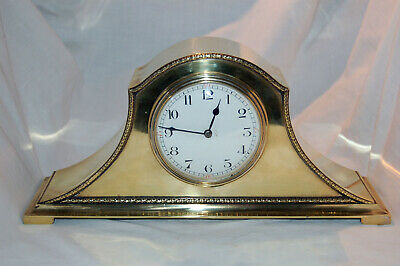 Unusual Single Train Brass Bodied Mantle Clock with platform movement - Working.
