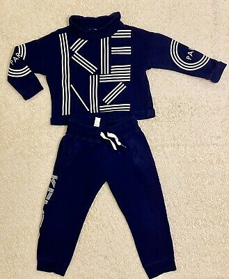 Girls Designer Outfit Kenzo Tracksuit Navy Age 4 Excellent Condition