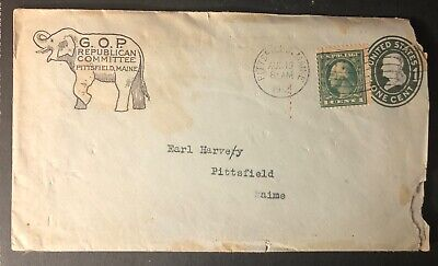 Maine Pittsfield 1912 GOP Republican Committee long political letter