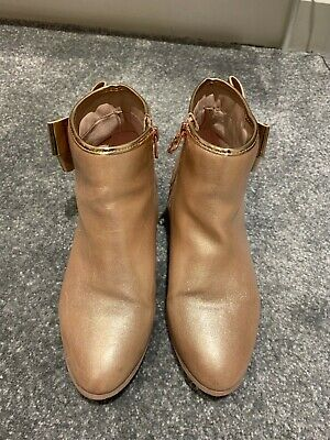 Ted Baker girls rose gold ankle boots, size 4