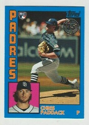 2019 Topps Update Chris Paddack RC 1984 Variation Blue SP Parallel #84-15 PADRES
