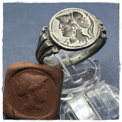 ** Alexander the Great** ancient GREEK LEGIONARY SILVER RING !!!  10,09g